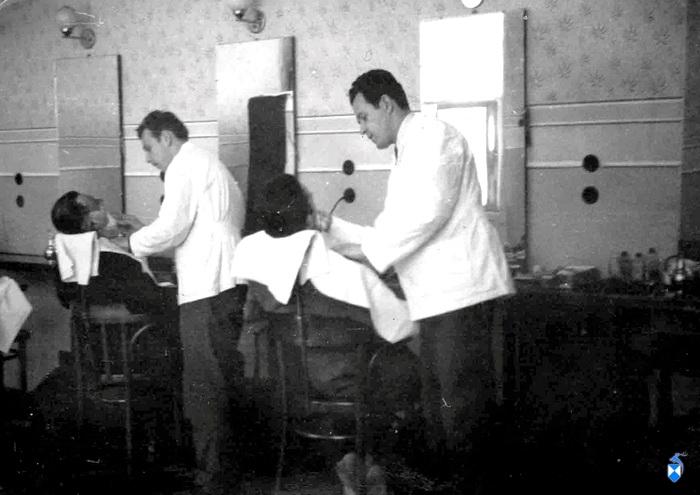 Zakład fryzjerski w kamienicy Wiśniewskich przy ul. Długiej