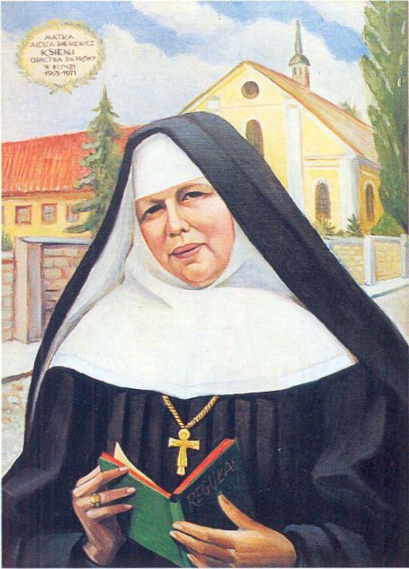 Siostra Alojza Piesiewicz 1902-1971. Portet S. Pauli Serafinowicz. Opactwo w Żarnowcu. Repr. Jacek Malanowski Foto- Wrzos w Łomży