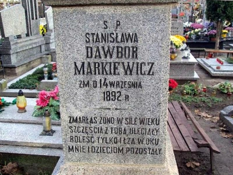 Grób Stanisławy Dowbor - Markiewicz