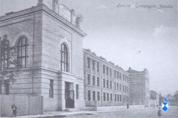 Gimnazjum Żeńskie (potem Męskie) w 1914 r., przy ulicy Bernatowicza