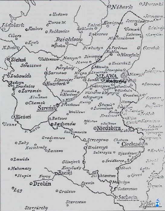 Mapka Ziemi Zawkrzyńskiej