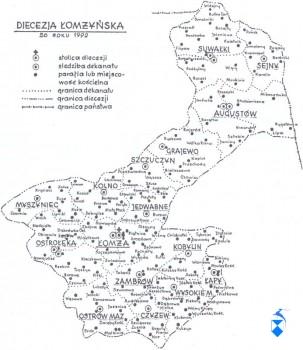 Diecezja Łomżyńska do 1992 roku