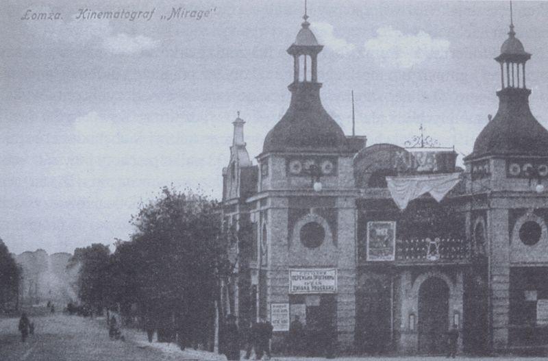Kino Mirage z 1911 r. przy Nowym Rynku (Plac Kościuszki) zburzone w 1945