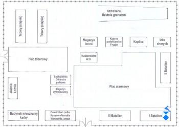 Plan koszar w Łomży