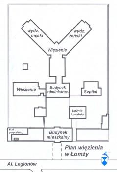 Plan więzienia w Łomży