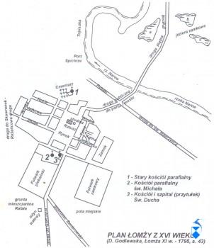 Kościół pw. św. Rozesłańców na Popowej Górze, oznaczony na mapce nr. 1