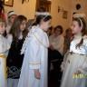Od lewej Wiktoria i Ola - sprzeczka aniołków