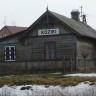 Stary budynek stacyjny drewniany w Kozikach  obecnie