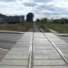 Tor wylotow z Łomży obecnie. Przejazd na ulicy Spokojnej