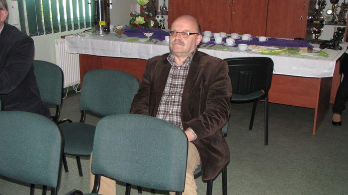 Pan Sławomir Zgrzywa na wykładzie pana Czesława Rybickiego