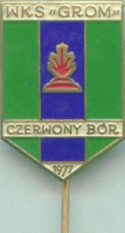 Odznaka klubu piłkarskiego Grom Czerwony Bór