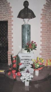 Popiersie JPII w Katedrze