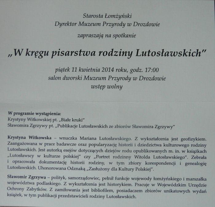 Wkręgu pisarstwa rodziny Lutosławskich