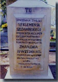 Grób Klemensa Szczawińskiego
