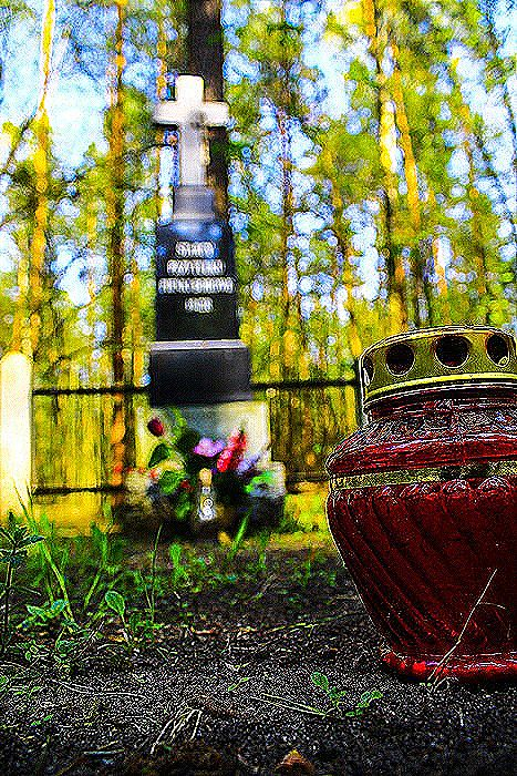 Pomnik Starców z przytułku z Pieniek Borowych. Autor  Wysocki K