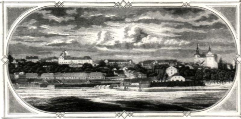 Ogólny widok Łomzy od strony Piątnicy