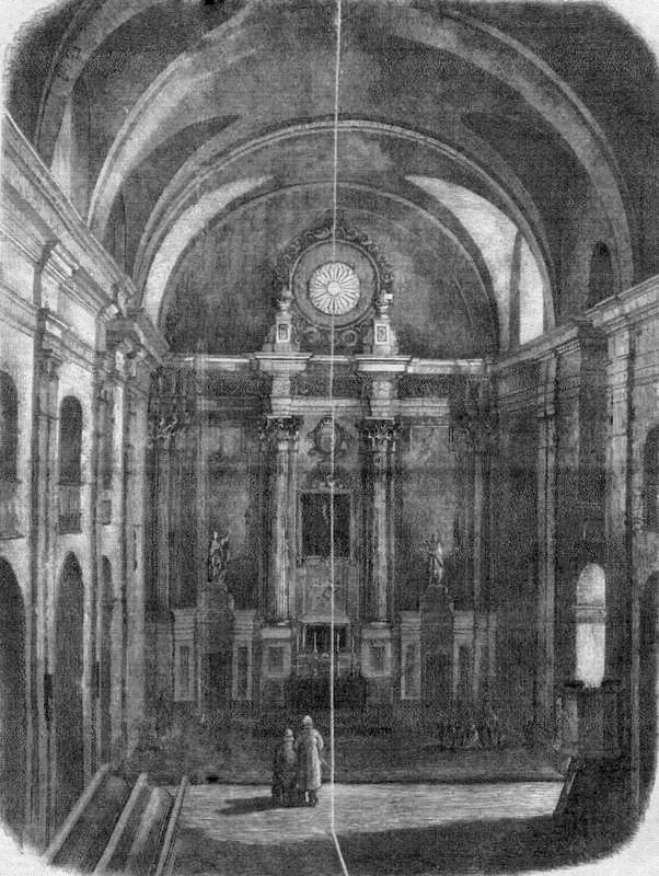 Wnętrze kościoła ewangelickiego