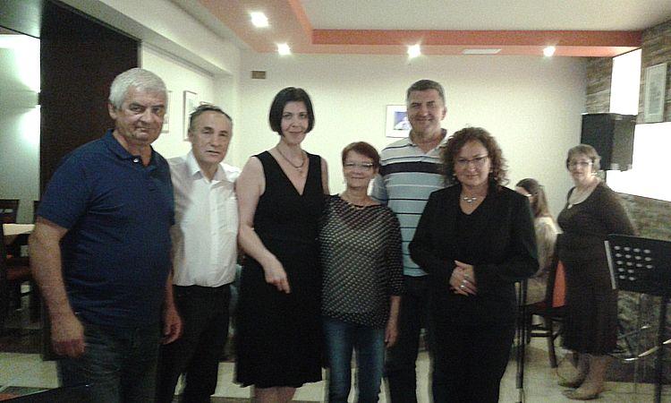 Spotkanie  z trenerami,  koleżankami i kolegami Łomzyńskiego Towarzystwa Wioślarskiego