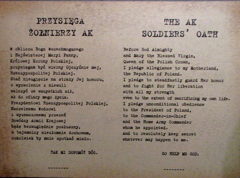 Przysięga żołnierzy AK