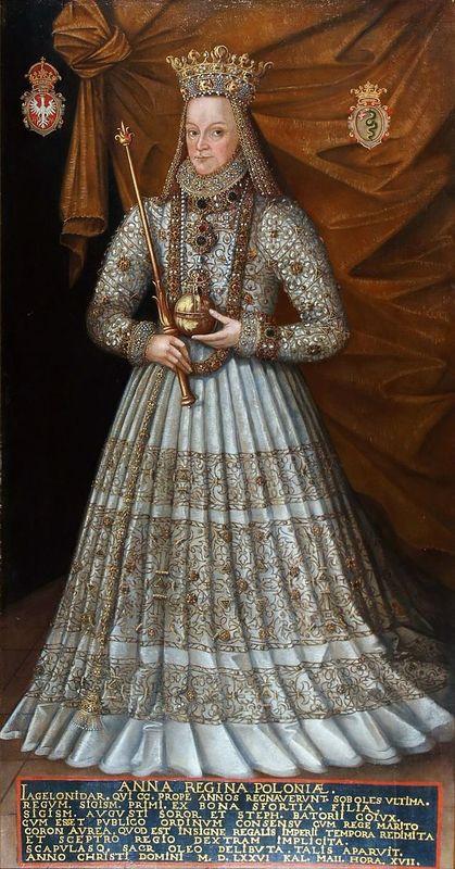 Anna Jagiellonka w stroju koronacyjnym, Marcin Kober, po 1575 r.