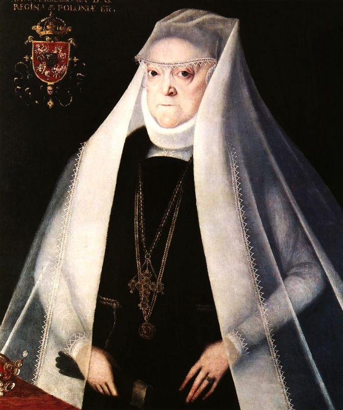 Anna Jagiellonka w stroju wdowy z 1595 r., autorstwa Marcina Kobera