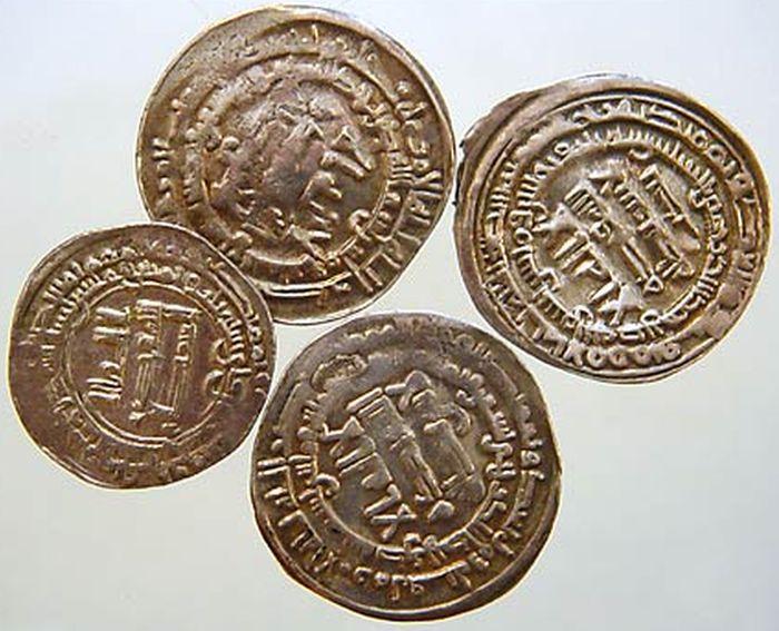 Cztery złote dukaty znalezione w Przytułach. przechowywane w Muzeum Północno - Mazowieckim w Łomzy