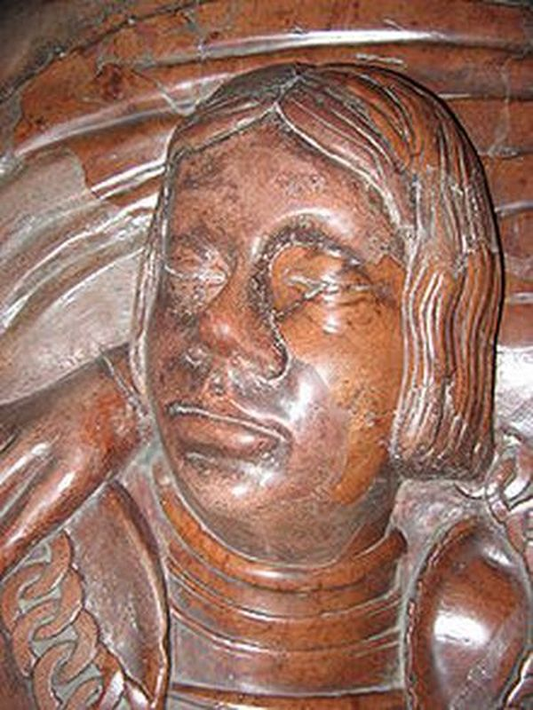 Wizerunek Janusz III na płycie nagrobnej