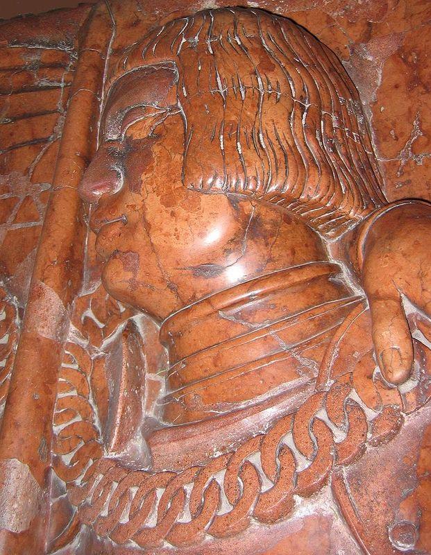 Wizerunek Stanislawa mazowieckiego na płycie nagrobnej
