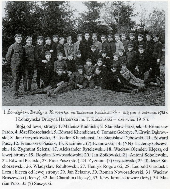 1 Drużyna Harcerska im Tadeusza Kościuszki z czerwca 1918 r