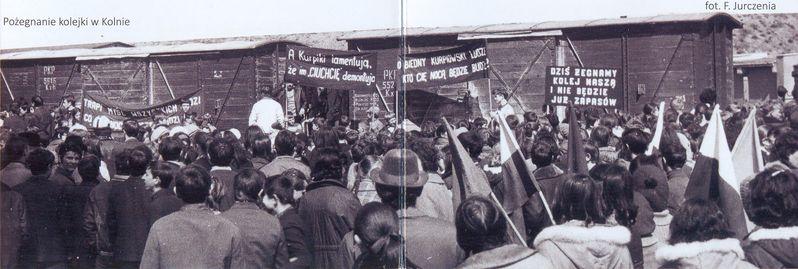 Pożegnanie kolejki w Kolnie. Fot. F. Jurczenia