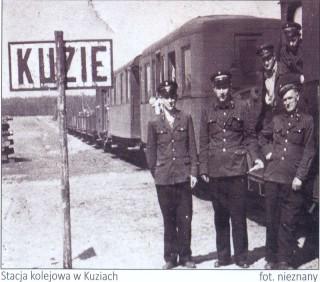 Stacja kolejowa w Kuziach. Fot. Nieznany