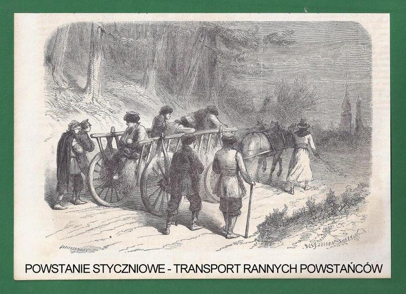 Transportowanie rannych powstańców