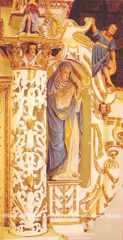 Elementy manierystycznego ołtarza (XVII) z cudownym obrazem Matki Bożej Łomżyńskiej (XVI w.) 5