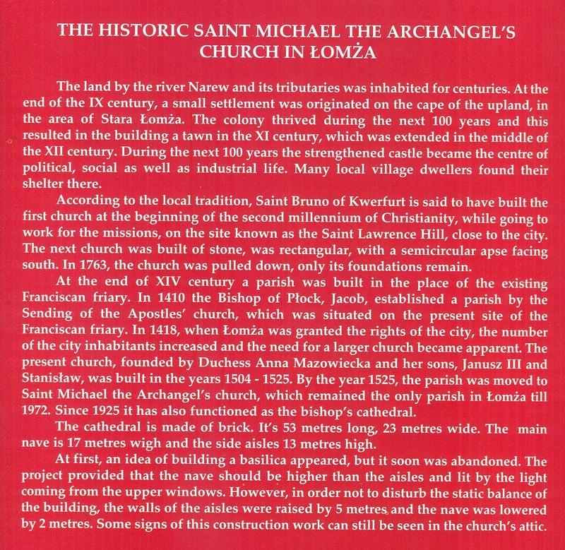 Historia kościoła św. Michała Archanioła w języku angielskim
