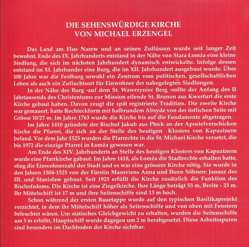 Historia kościoła św. Michała Archanioła w języku niemieckim