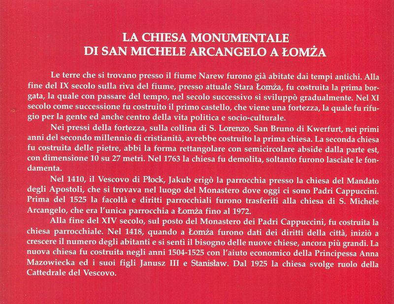 Historia kościoła św. Michała Archanioła w języku włoskim