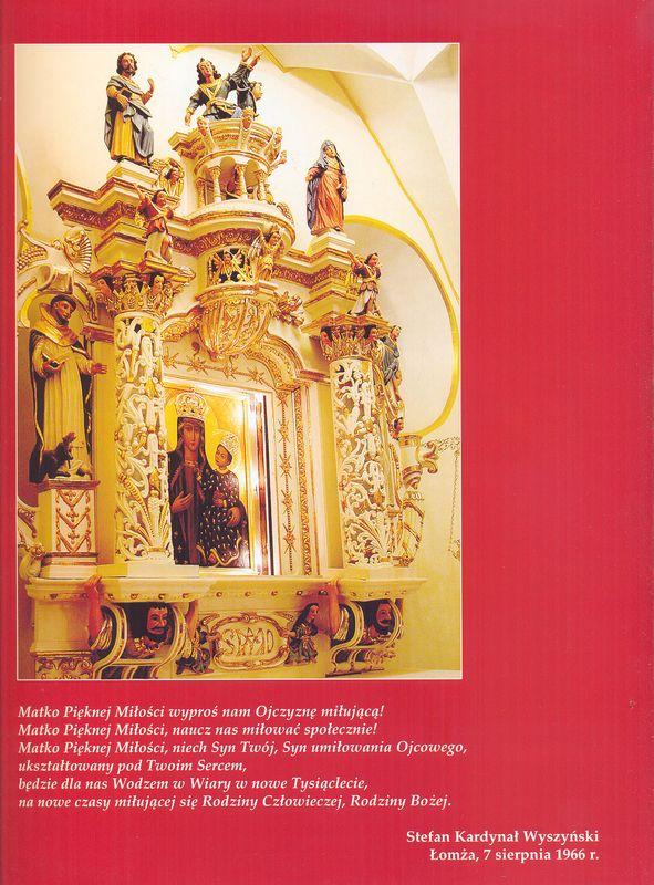 Modlitwa Stefana Kardynała Wyszyńskiego podczas obchodów millenijnych w 1996 r. przed Obrazem Matki Bożej Łomżyńskiej