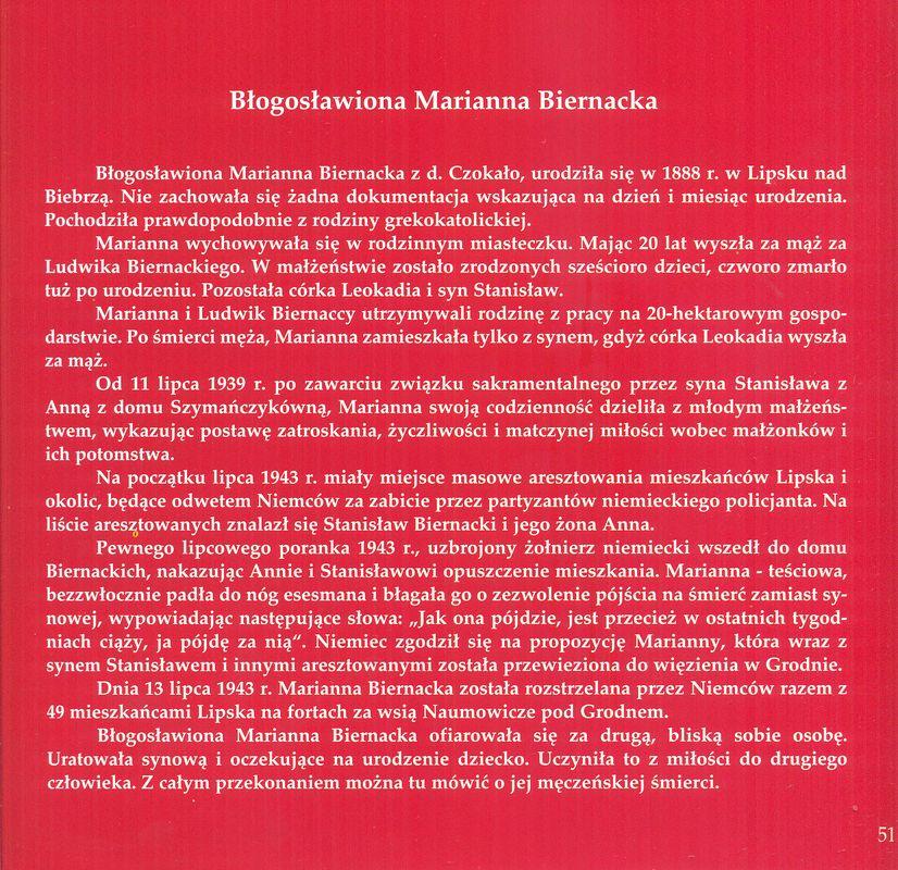Błogosławiona Marianna Biernacka - jej życiorys