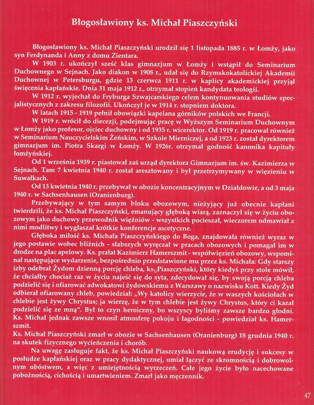 Błogosławiony ks. Michał Piaszczynski - jego życiorys