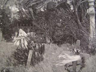 Cmentarz grafika z XIX wieku.