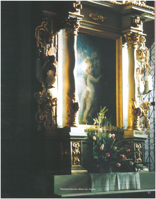 Manierystyczny ołtarz św. Józefa