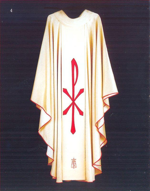 Ornat, w którym Ojciec Święty Jan Paweł II,sprawowal1991 r. w ŁomżyOfiarę Eucharystyczną
