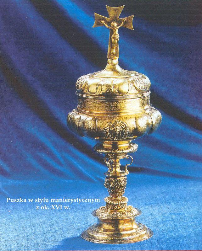 Puszka w stylu manierystycznym z ok. XVI w