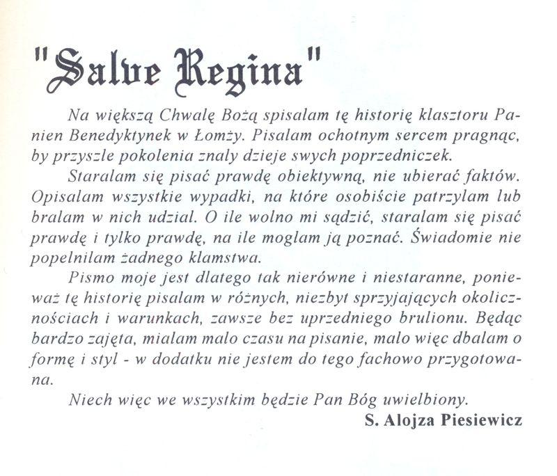 Słowa S. Alojzy Piesiewicz