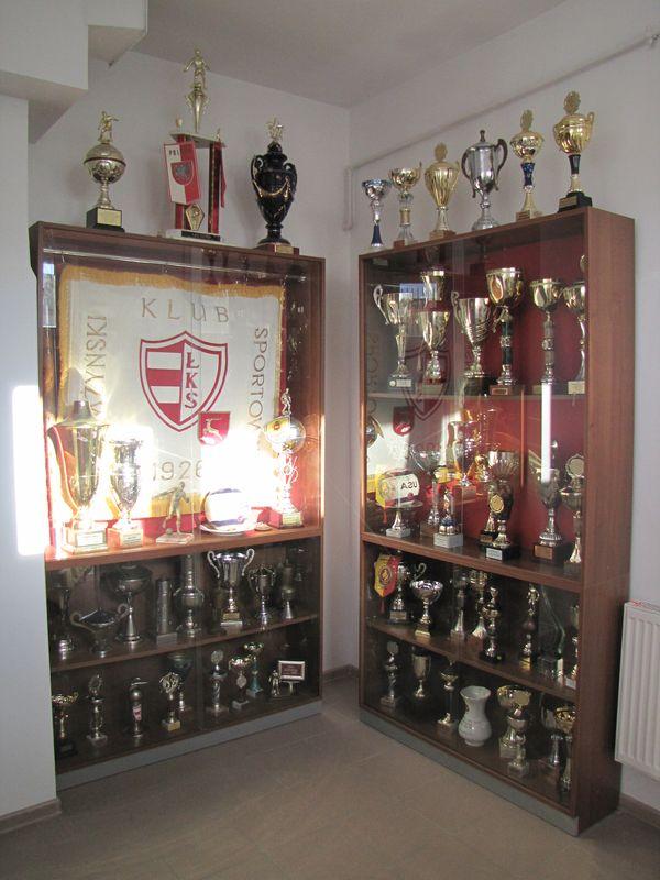 Sztandar i trofea ŁKS-u