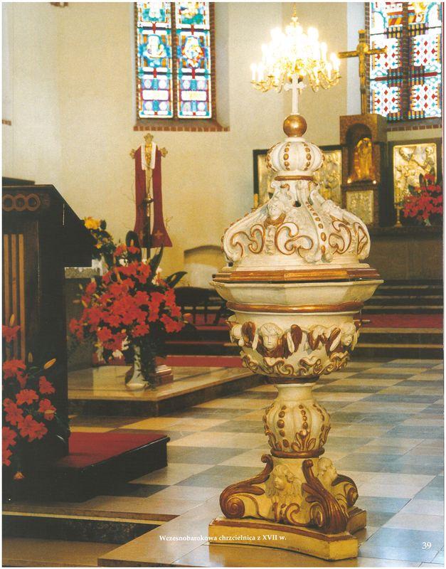 Wczesnobarokowa chrzcielnica XVII w.