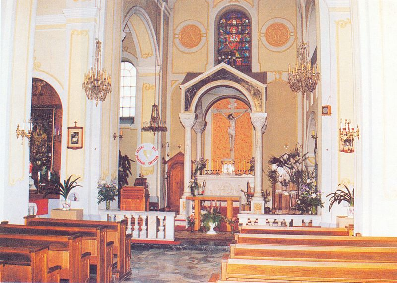 Wnętrze kościoła Świętej Trójcy w Łomży
