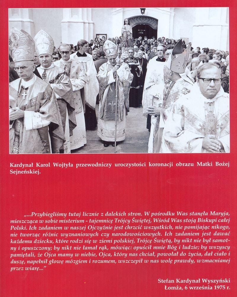 Kardyna Karol Wojtyła przewodniczy uroczystości koronacji obrazu Matki Bożej Sejneńskiej