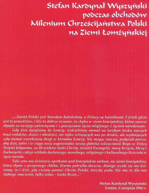 Stefan Kardynał Wyszyński Łomża, 6 sierpień 1966 r