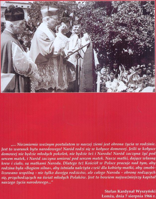 Wyszyńskiego wypowiedziane w Łomży 7 sierpnia 1966 r
